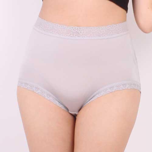 【Chlansilk闕蘭絹】『超高腰』包覆頂級40針100%蠶絲女內褲-8795(灰)