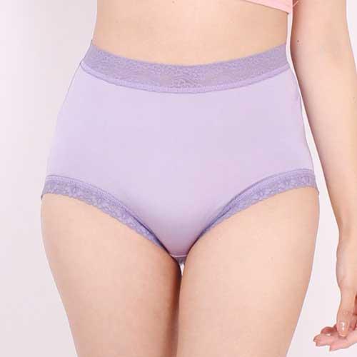 【Chlansilk闕蘭絹】『超高腰』包覆頂級40針100%蠶絲女內褲-8795(紫)