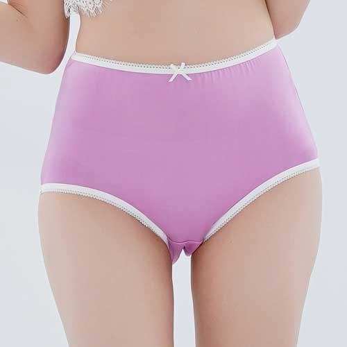 【Chlansilk闕蘭絹】粉嫩舒適透氣100%蠶絲女內褲-88903(紫)