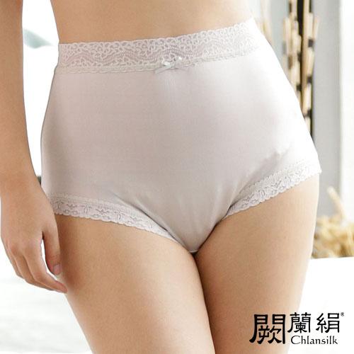 【Chlansilk闕蘭絹】親膚絲滑42針100%蠶絲女內褲-88421(灰)