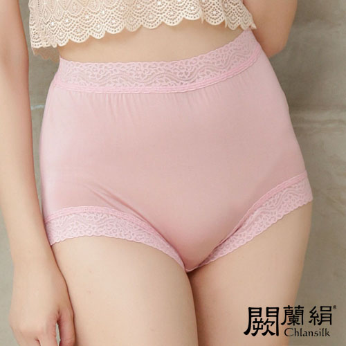 【Chlansilk闕蘭絹】典雅美人頂級40針『超高腰』包覆100%蠶絲女內褲-8796(粉)