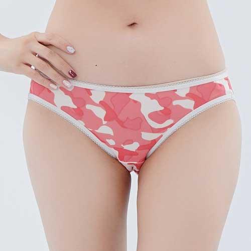 【Chlansilk闕蘭絹】性感迷彩100%蠶絲內褲-88109-1(粉)