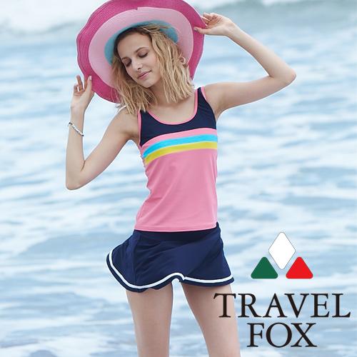 【旅狐TRAVEL FOX】大女長版二件式泳衣 c18709