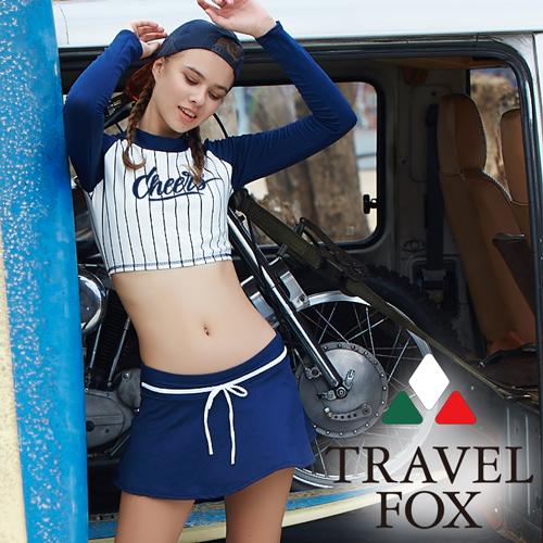 【旅狐TRAVEL FOX】大女短版衝浪裝三件式泳衣c18711
