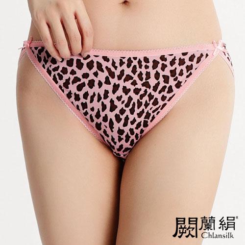 【Chlansilk闕蘭絹】經典性感100%蠶絲女內褲-3307(印花粉)(S)