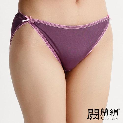 【Chlansilk闕蘭絹】經典性感100%蠶絲女內褲-3307(紫)(S)