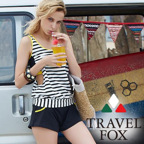 【旅狐TRAVEL FOX】加大碼大女長版二件式泳衣C18712