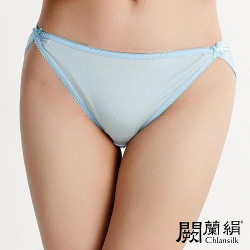 【Chlansilk闕蘭絹】經典性感100%蠶絲女內褲-3307(藍)(S)