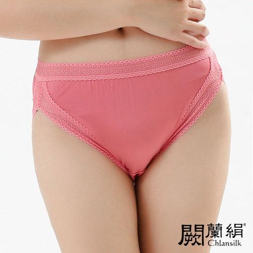 【Chlansilk闕蘭絹】微性感美臀100%蠶絲女內褲-882(玫紅)(2XL)