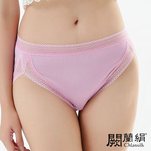 【Chlansilk闕蘭絹】微性感美臀100%蠶絲女內褲-882(紫)(2XL)