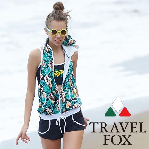 【旅狐TRAVEL FOX】 大女連身褲三件式泳衣C18714