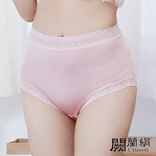 【Chlansilk闕蘭絹】32針超涼春蠶100%蠶絲女內褲-88112(粉)