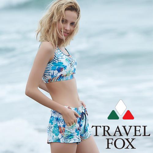 【旅狐TRAVEL FOX】大女短版三件式泳衣c18715