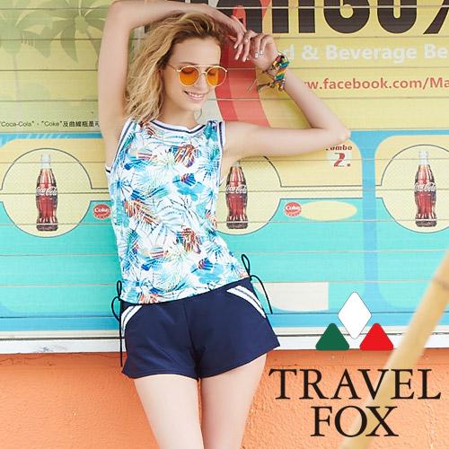 【旅狐TRAVEL FOX】大女長版三件式泳衣c18716