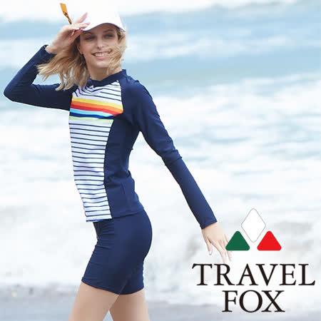 旅狐TRAVEL FOX 大女衝浪裝二件式泳衣