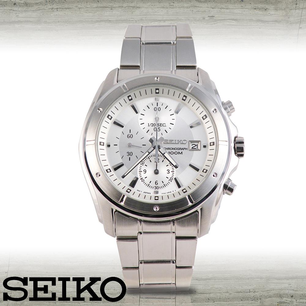 SEIKO 精工 日系經典款三眼賽車計時腕錶 SNDB61P1