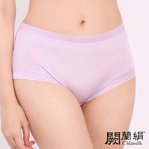 【Chlansilk闕蘭絹】清新雅致100%蠶絲女內褲-8106(紫)