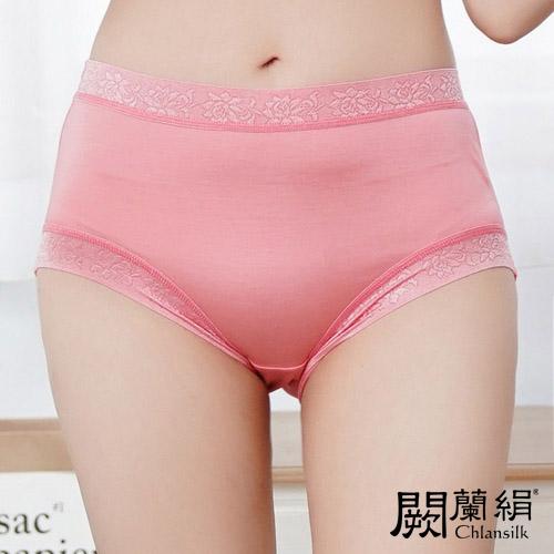 【Chlansilk闕蘭絹】舒涼無痕100%蠶絲女內褲-88904(粉)