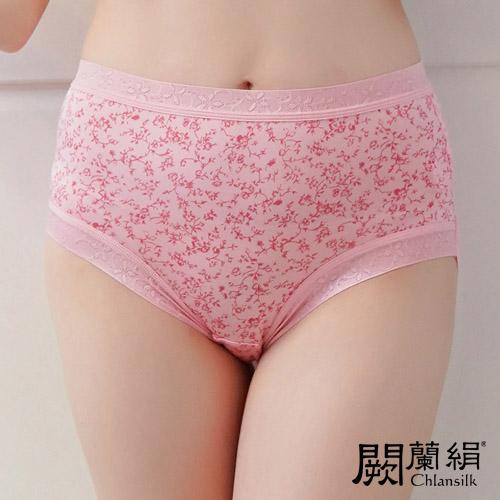 【Chlansilk闕蘭絹】日系零著感100%蠶絲女內褲-88110(印花粉)