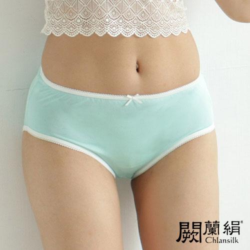 【Chlansilk闕蘭絹】清新甜美100%蠶絲女內褲-2211(綠)