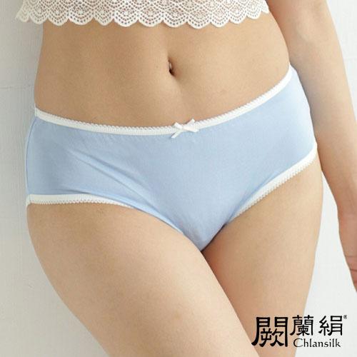 【Chlansilk闕蘭絹】清新甜美100%蠶絲女內褲-2211(藍)