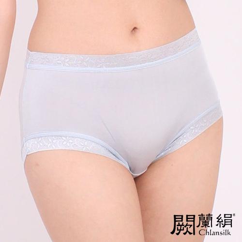 【Chlansilk闕蘭絹】清新雅致100%蠶絲女內褲-8106(灰)