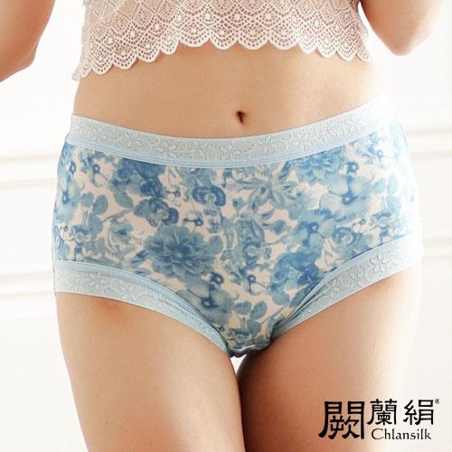 【Chlansilk闕蘭絹】百花齊放100%蠶絲女內褲-8108(藍)
