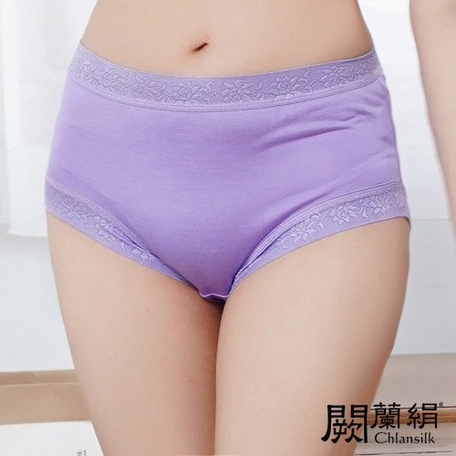 【Chlansilk闕蘭絹】舒涼無痕100%蠶絲女內褲-88904(紫)