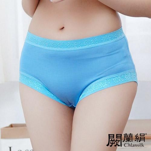 【Chlansilk闕蘭絹】舒涼無痕100%蠶絲女內褲-88904(藍)