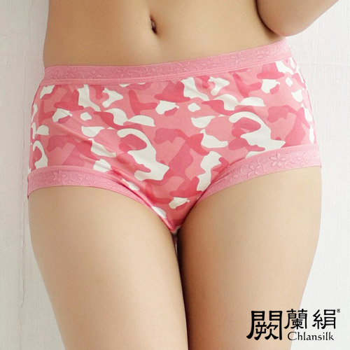【Chlansilk闕蘭絹】迷彩美人100%蠶絲女內褲-8109(粉)