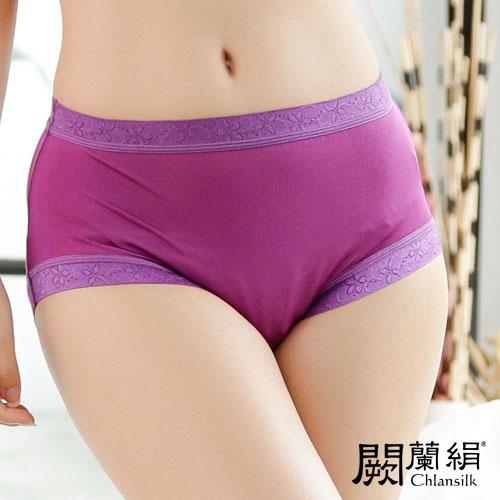 【Chlansilk闕蘭絹】低調奢華100%蠶絲女內褲-8107(紫)