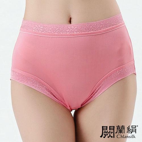 【Chlansilk闕蘭絹】優雅細緻100%蠶絲女內褲-886(粉)
