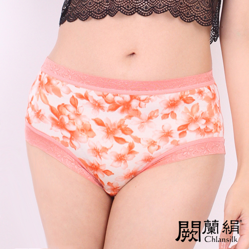 【Chlansilk闕蘭絹】氣質無痕100%蠶絲女內褲-8105(橘)(M)