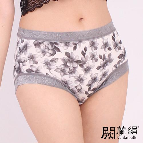 【Chlansilk闕蘭絹】氣質無痕100%蠶絲女內褲-8105(灰)(M)