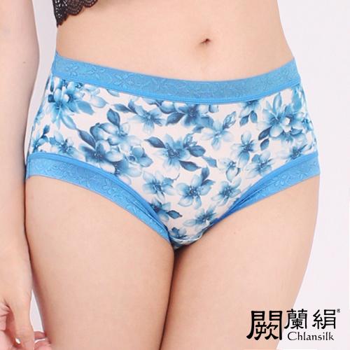 【Chlansilk闕蘭絹】氣質無痕100%蠶絲女內褲-8105(藍)(M)