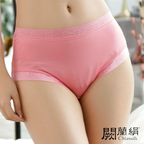 【Chlansilk闕蘭絹】輕柔素雅100%蠶絲女內褲-887(粉)