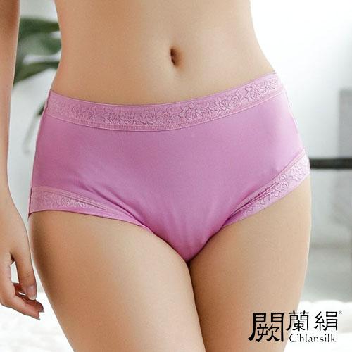 【Chlansilk闕蘭絹】輕柔素雅100%蠶絲女內褲-887(紫)