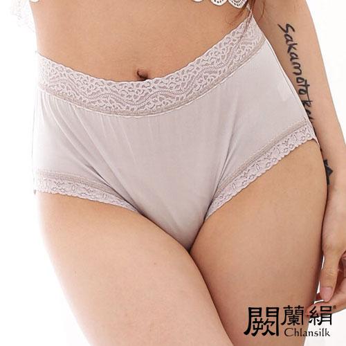 【Chlansilk闕蘭絹】簡約舒適100%蠶絲女內褲-881(灰)(M)