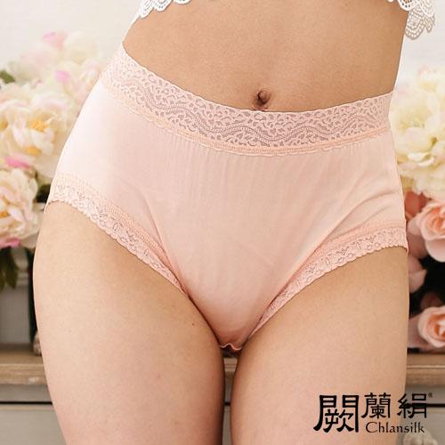 【Chlansilk闕蘭絹】簡約舒適100%蠶絲女內褲-881(粉橘)(M)