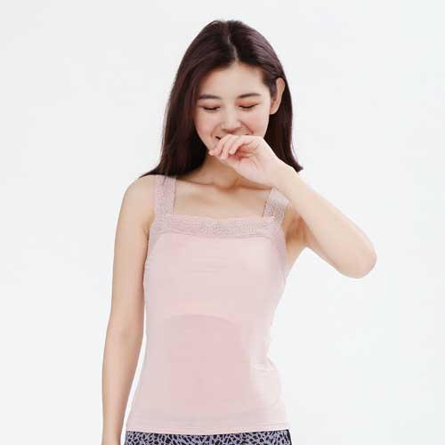 【Chlansilk闕蘭絹】親膚舒適100%蠶絲背心-9910(粉)
