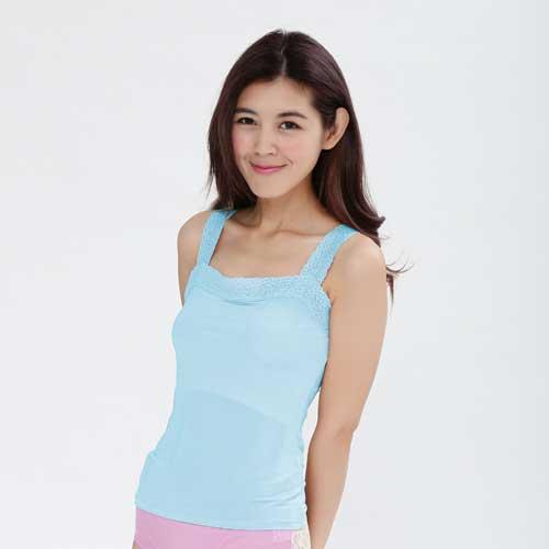 【Chlansilk闕蘭絹】親膚舒適100%蠶絲背心-9910(藍)