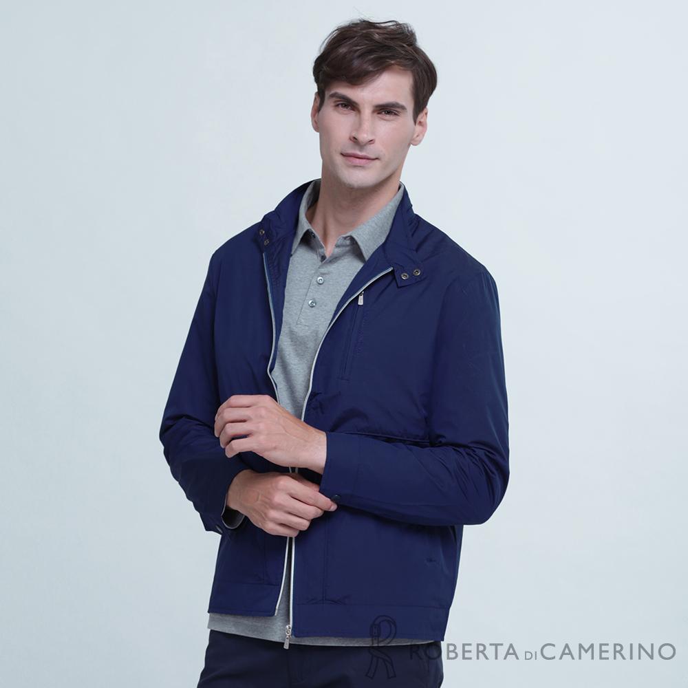 ROBERTA諾貝達 都會休閒 簡約百搭 夾克外套 深藍