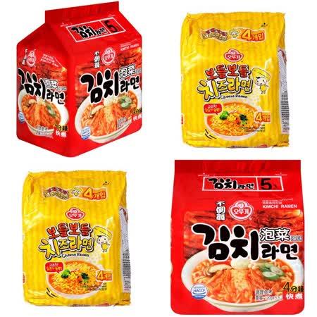 韓國不倒翁OTTOGI 起司+泡菜拉麵(2+2)
