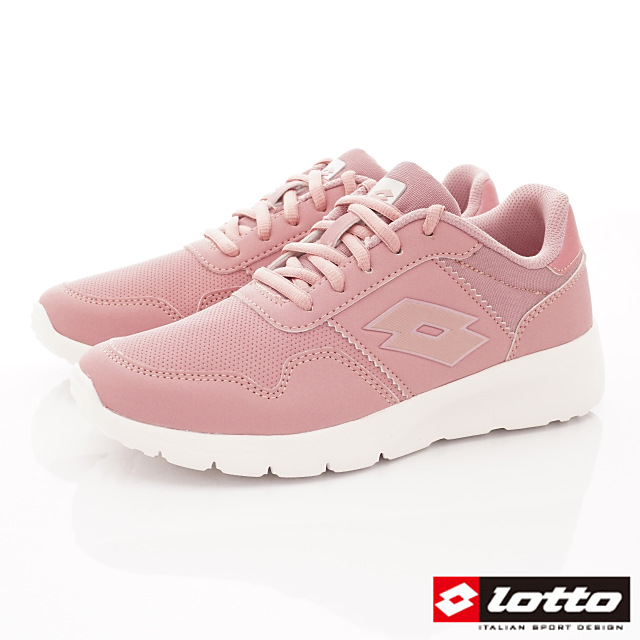 Lotto義大利運動鞋-潮流防潑休閒跑鞋-WR7013粉-23-25.5cm
