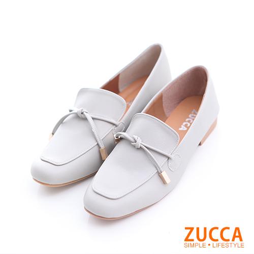 ZUCCA【z6505gy】細綁繩尖頭紳士鞋-灰色