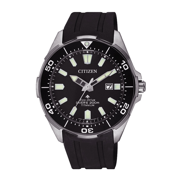 CITIZEN 光動能冒險極致潛水腕錶-黑-BN0200-13E