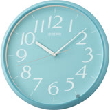 SEIKO精工 潔淨簡約時尚 掛鐘-水藍/28cm QXA719L