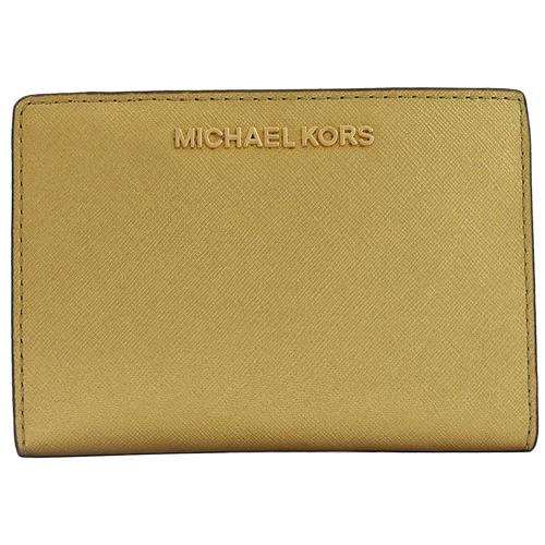MICHAEL KORS JET SET 證件卡夾零錢包.香檳金