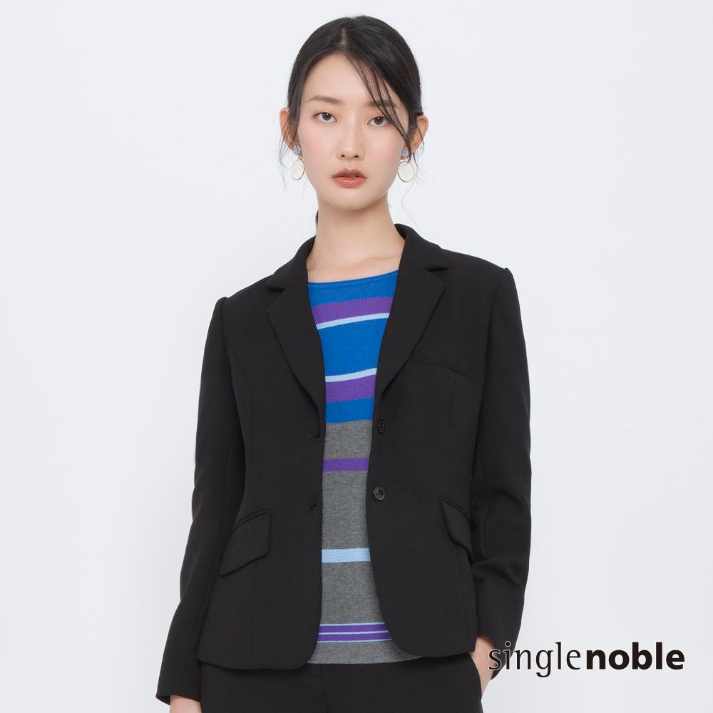 獨身貴族 俐落瑪丹雙口袋修身西裝外套(1色)