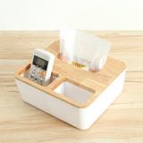 巴芙洛 橡木面紙盒-大(方形三格木蓋)